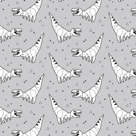 Origami dinosaurs fabric by penguinhouse on Spoonflower - custom fabric