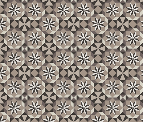 GeoStars (taupe) fabric by jjtrends on Spoonflower - custom fabric
