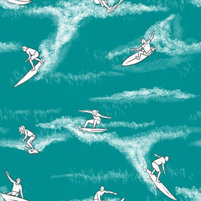 Surfers on Turquoise
