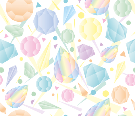 PASTEL_CRISTAL fabric by melluciani on Spoonflower - custom fabric