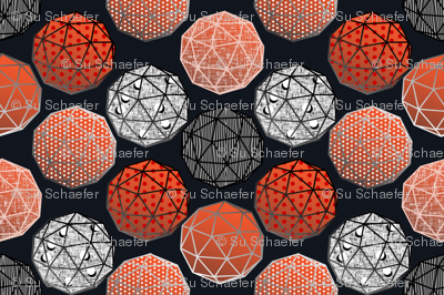 Dot this Geodesic, fancy on dark gray by Su_G