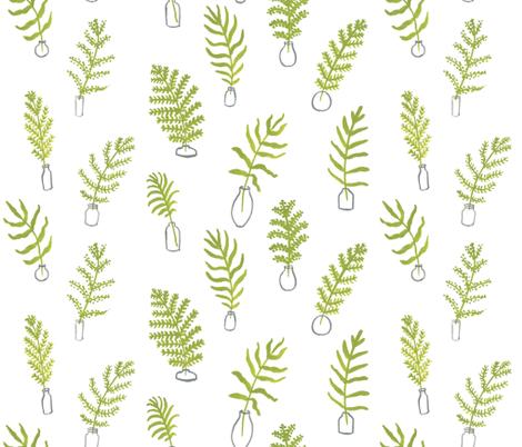 Fern Vases fabric by mayabeeillustrations on Spoonflower - custom fabric