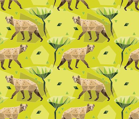 Geodesic hyenas fabric by marta_strausa on Spoonflower - custom fabric