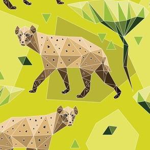 Geodesic hyenas