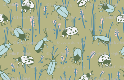 bugs in green