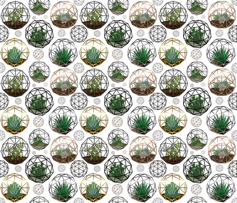 Geodesic Terrariums fabric by irishvikingdesigns on Spoonflower - custom fabric