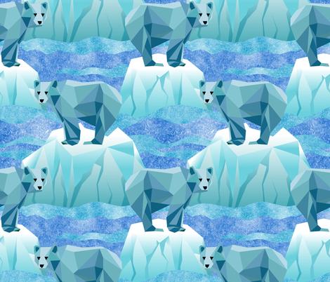 Save Our Geodesic Polar Bears!  fabric by vo_aka_virginiao on Spoonflower - custom fabric