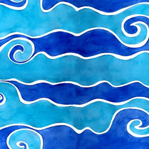 Aqua Blue Waves
