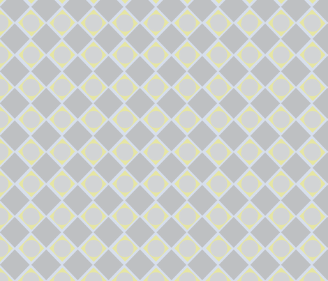Diamonds and Pearls Geometric_muted blue fabric by colour_angel_by_kv on Spoonflower - custom fabric