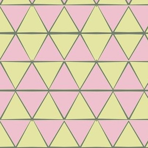 Ziggy Tile muted green pink