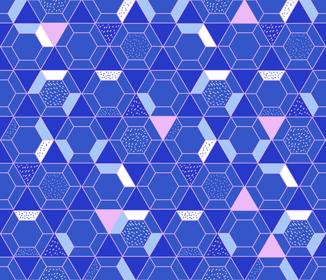 Geodesic abstract pattern fabric by illustrationandmore on Spoonflower - custom fabric