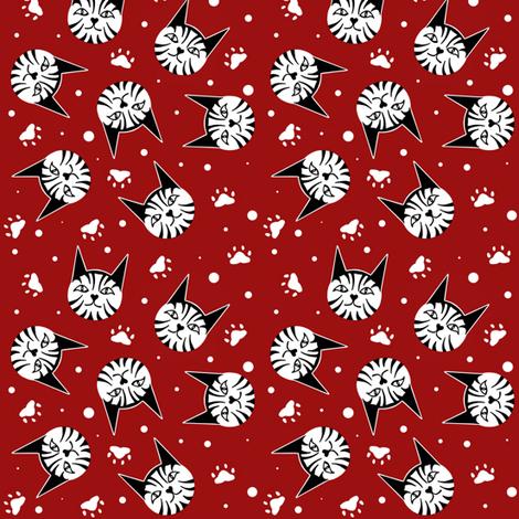 Kitty_Cat_Paws sewindigo fabric by sewindigo on Spoonflower - custom fabric