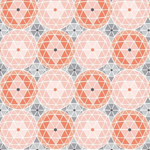 Geodome - Modern Geometric Dot Pink Blush & Grey