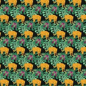 Moody Jungle (Jaguar - Black)