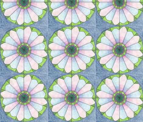 Geodesic - Flower fabric by kate's_kwilt_studio on Spoonflower - custom fabric