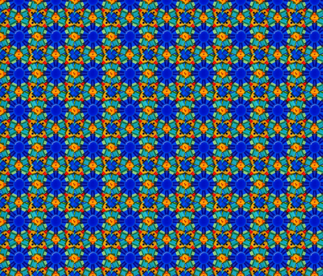 Blue Kaleidoscope fabric by anderson_artworks on Spoonflower - custom fabric