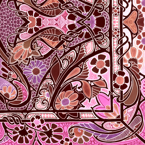 Sometime After Tiffany fabric by edsel2084 on Spoonflower - custom fabric