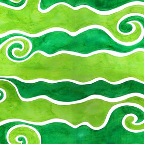 Green Lime Waves
