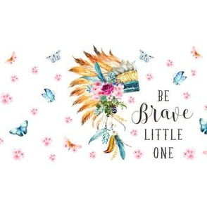 """14""""x4"""" with 1.5"""" Spacing / Be Brave Little One / Spring Head Dress"""