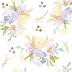 muted floral pattern