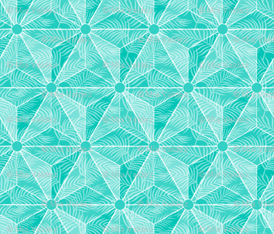 Geodesic Palm Turquoise