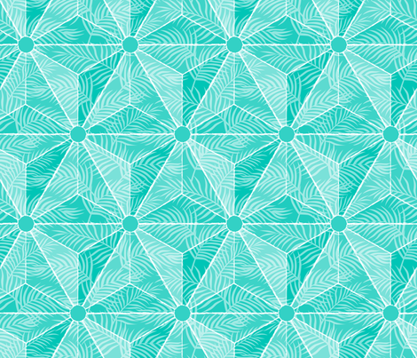 Geodesic Palm Turquoise fabric by mia_valdez on Spoonflower - custom fabric