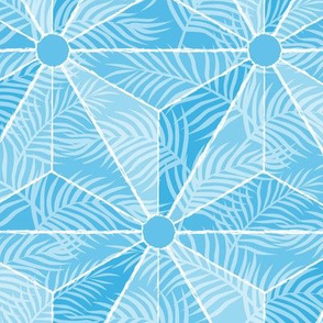 Geodesic Palm Cerulean
