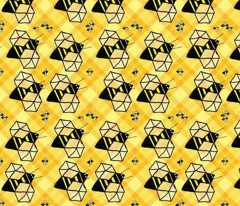 Geodesic_Bee fabric by spicerroots on Spoonflower - custom fabric