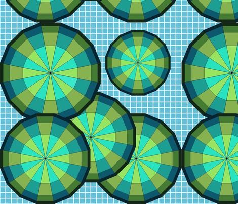 Geodesic_Blues fabric by mammajamma on Spoonflower - custom fabric