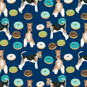 Wire Fox Terriers dog breed fabric donuts boysnavy