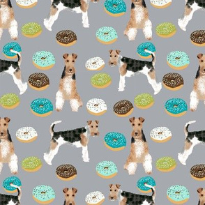 Wire Fox Terriers dog breed fabric donuts boys