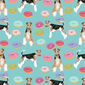 Wire Fox Terriers dog breed fabric donuts