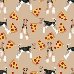 Wire Fox Terriers dog breed fabric pizza sand