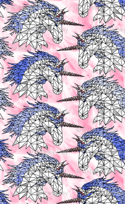 Geometric Cotton Candy Unicorns