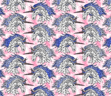 Geometric Cotton Candy Unicorns fabric by pond_ripple on Spoonflower - custom fabric