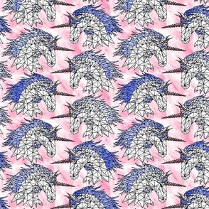 Geometric Cotton Candy Unicorns