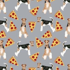 Wire Fox Terriers dog breed fabric terrier pizza