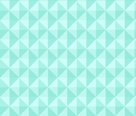 Geo Mint Blanket fabric by minikuosi on Spoonflower - custom fabric