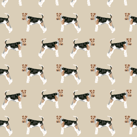 Wire Fox Terriers dog breed fabric simple fabric by petfriendly on Spoonflower - custom fabric