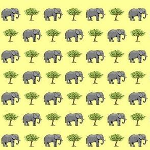 Elephant & Tree Yellow