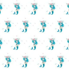 "1.5"" Blue Mermaid"
