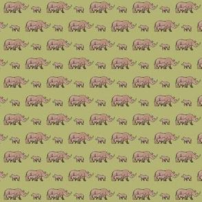 Green Rhino Family