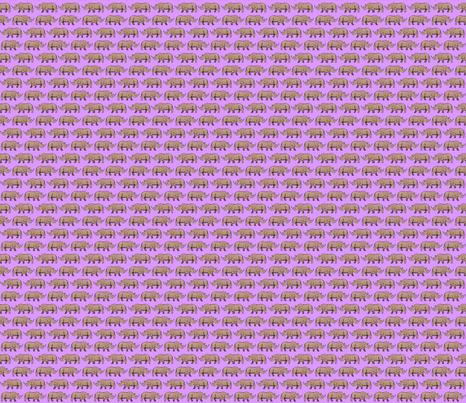 Rhino Purple fabric by wren_2_0 on Spoonflower - custom fabric