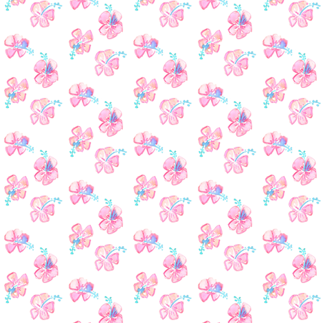 hibiscus mini fabric by erinanne on Spoonflower - custom fabric
