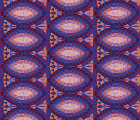 Geodesic marquise repeat - purple fabric by cecca on Spoonflower - custom fabric