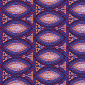 Geodesic marquise repeat - purple