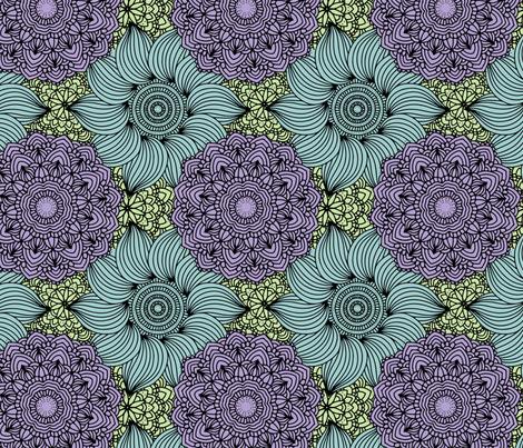 Blooming Rings fabric by jilbert on Spoonflower - custom fabric