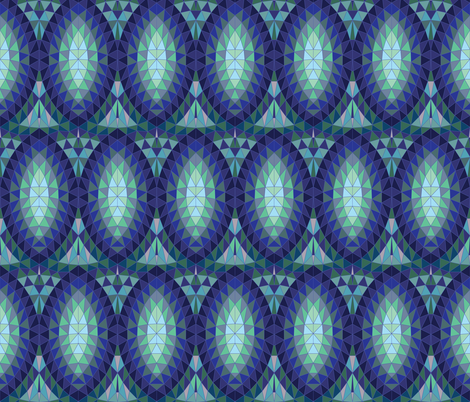 Geodesic marquise repeat - upright fabric by cecca on Spoonflower - custom fabric