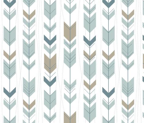 Arrows (Country Boy) on white fabric by buckwoodsdesignco on Spoonflower - custom fabric