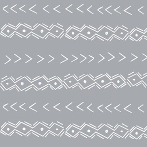 mudcloth inspired fabrics - black and white fabric grey version